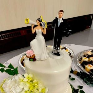 Bride and Groom Sports Cake Toppers
